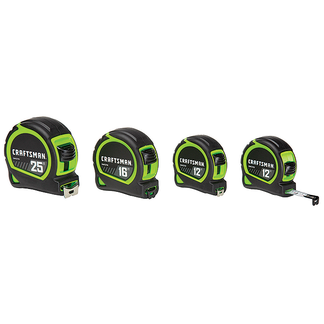 High Visibility Measuring Tape - Pack of 4