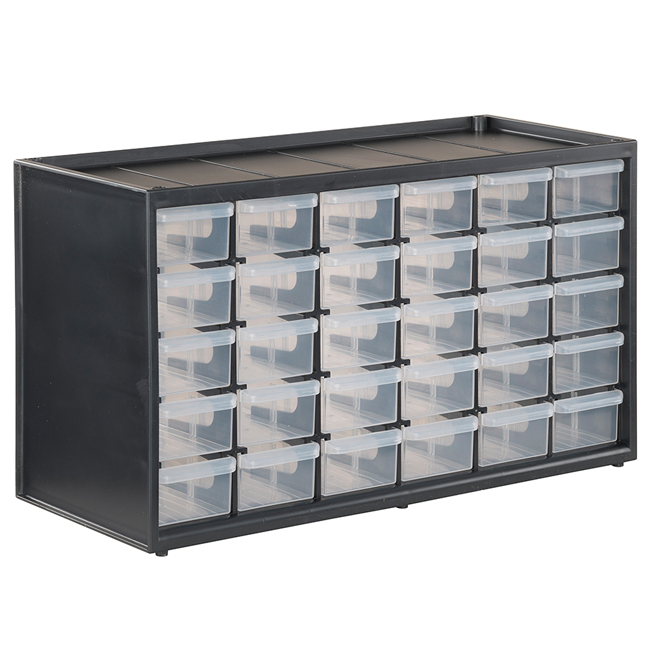 Small Parts Organizer - 30 Drawers - Polypropylene