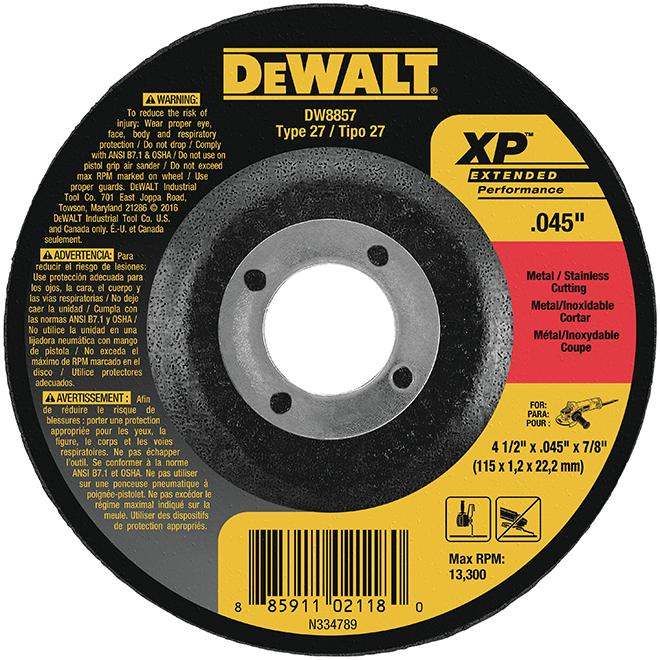 """DeWalt Cut-Off Wheel - Type 27 XP - 4 1/2"""""""