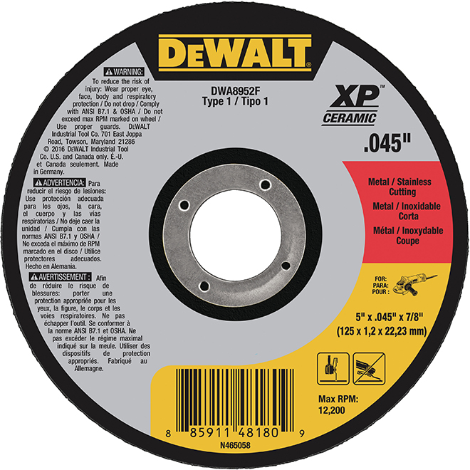 DeWalt Cut-Off Wheel - Type 1 XP - 5""