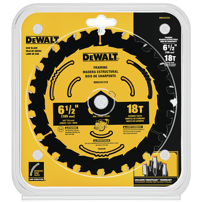 DeWalt Carbide Circular Saw Blade - 18 TH - 6 1/2""