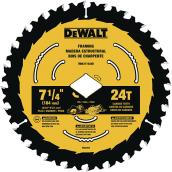DeWalt Carbide Circular Saw Blade - 24 TH - 7 1/4""