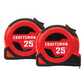 Craftsman Self-Lock Measuring Tape - 25' - Pack of 2