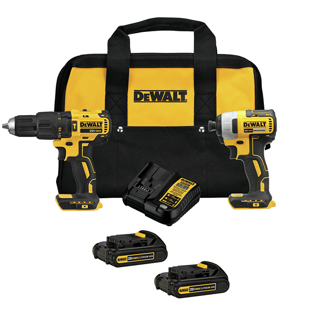 Ensemble de 2 outils Dewalt, perceuse et clé à chocs, 20 V