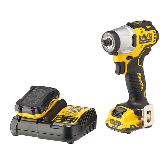 Dewalt Impact Driver Kit - 3/8'' - 12 V - Yellow and Black
