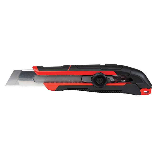 Couteau utilitaire, Craftsman(MD), 25 mm, noir/rouge