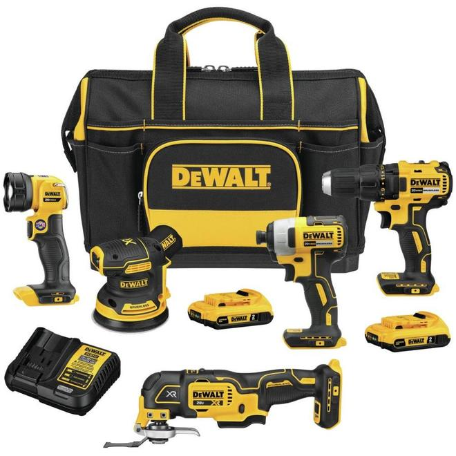 Dewalt 20V MAX Cordless 5-Tool Combo with Safety Storage