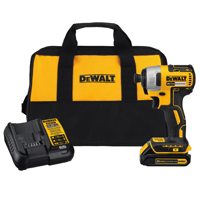 Dewalt 20V MAX Impact Driver Kit with Battery and Charger