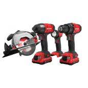 Craftsman Cordless V20 20-Volt Max 4-Power Tool Combo Kit - 2 Batteries