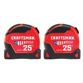CRAFTSMAN Imperial Measuring Tapes - Set of 2 - 1.25-in x 25-ft