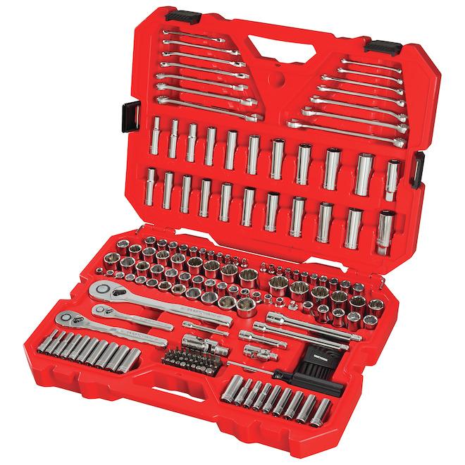Ensemble d'outils Craftsman pour mécanicien, acier 197 morceaux