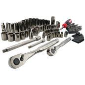 Ensemble d'outils pour mécanique, 105 pièces, 17 po, chrome gris métallique