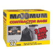 Maximum Garbage Bags - 33-in x 48-in -3 Mil -  Black - 32/Box