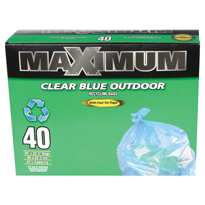 Sacs à déchets pour la récupération, boîte de 40