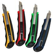 ToolTech Assorted Utility Knife - 9 mm Snap-Off Blade - 5 Blades