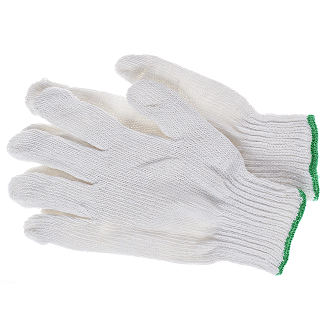 Working Cotton Knitted Gloves - Large - Pack of 12