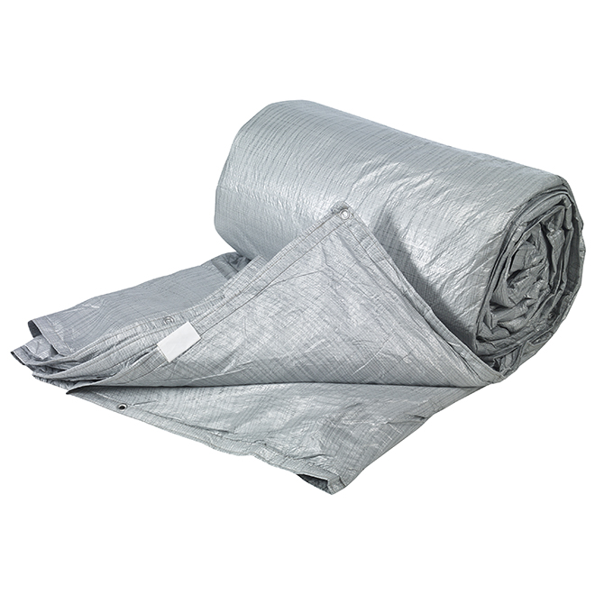 Toolway -  Tarpaulin - Polyethylene - 4-Layer - 12 ft x 20 ft - Silver