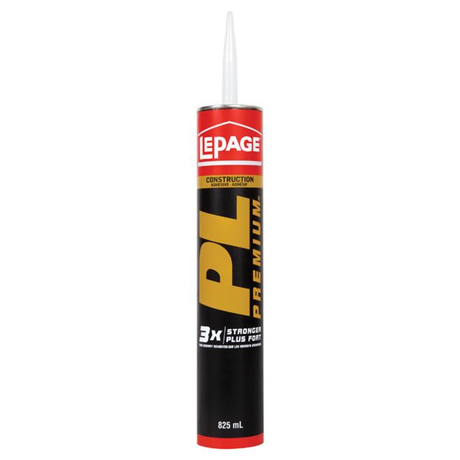 Adhésif de construction PL Premium LePage, beige, 825 ml