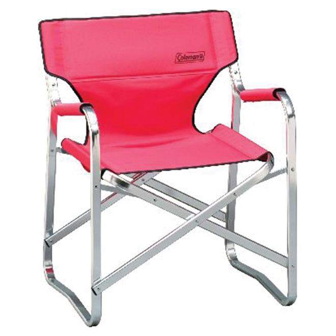 Chaise de camping repliable Easy-Fold rouge