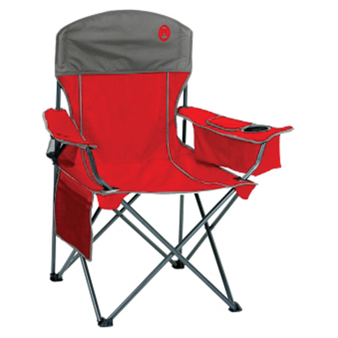 Chaise de Camping Quad Cooler(TM), repliable, rouge