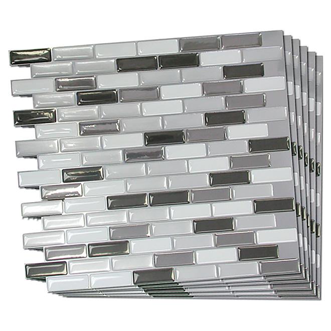 Self-Adhesive Wall Tile - Metallik - 6-Pack