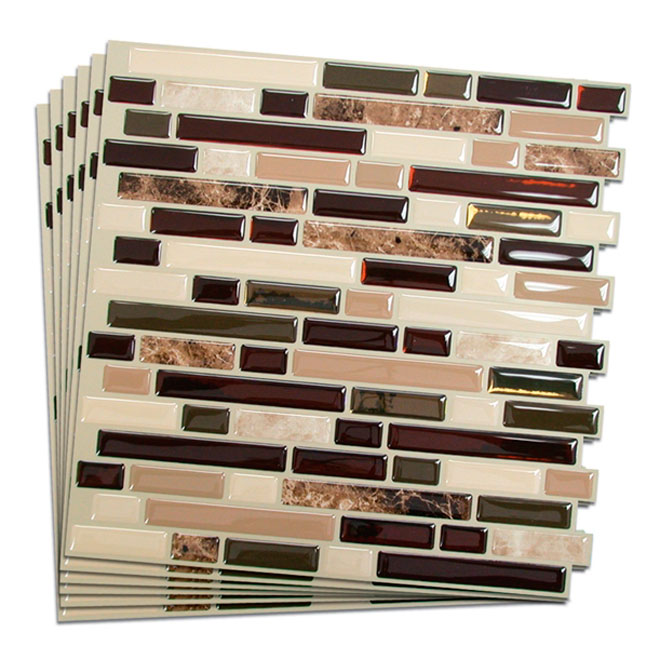 Self-Adhesive Wall Tile - Bellagio Keystone - 6-Pack