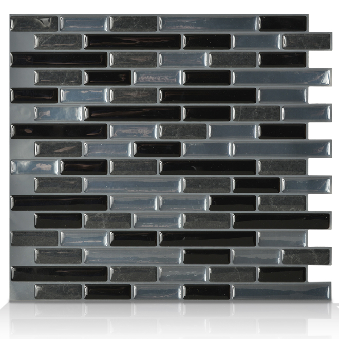 Self-Adhesive Wall Tile - Muretto Nero - 6-Pack