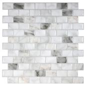 Self-Adhesive Wall Tile - Ravenna Blanco - Marble - 6-Pack