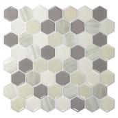 Self-Adhesive Wall Tile - Hexagon Greige - Dual Finish
