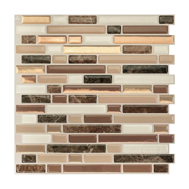 Bellagio Nola Adhesive Wall-Tile - 2.64 sq. ft. - 4/Box