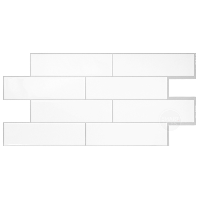 Oslo Adhesive Wall-Tile - 2.88 sq. ft. - 2/Box - White
