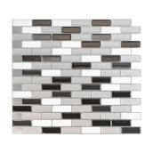 Adhesive Wall-Tile Murano - 2.4 sq. ft. - 4/Box - Silver