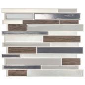 Milano Argento Adhesive Wall-Tile - 2.8 sq. ft. - 4/Box