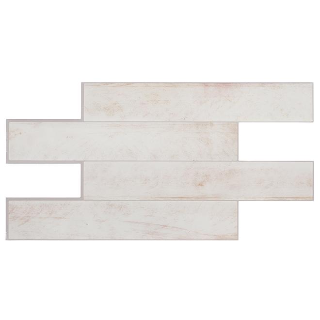 Tuiles adhésives en résine, bois blanchi,  2,68 pi², 2/pqt