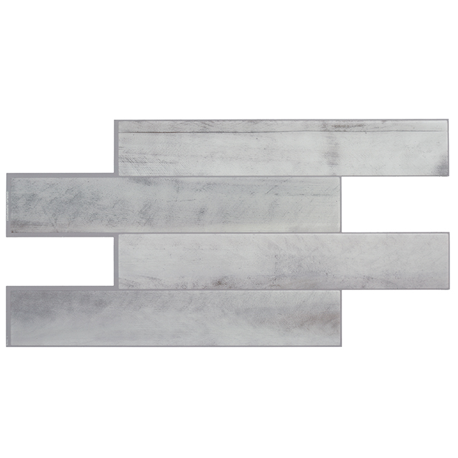 Tuiles adhésives en résine, gris pâle  2,68 pi², 2/pqt