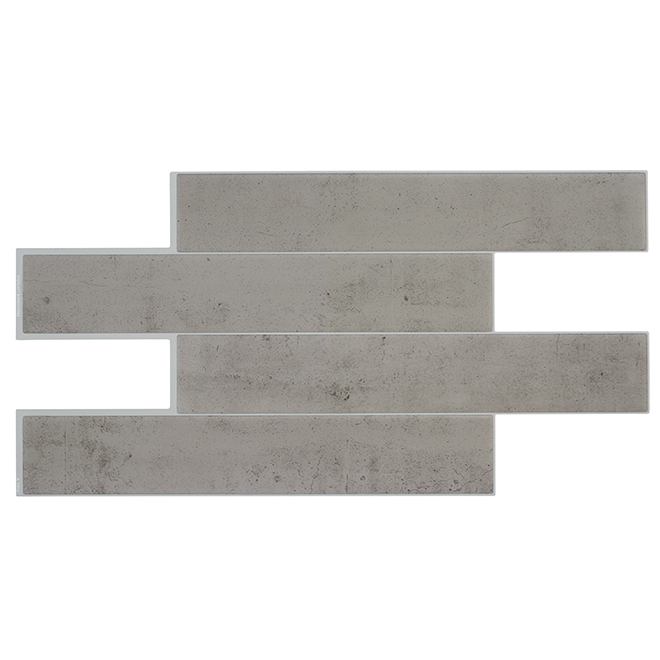 Adhesive Tiles - Resin - Medium Grey - 2.68 sq. ft. - 2/pk