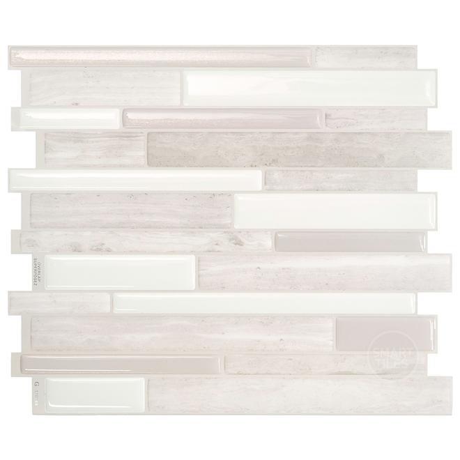 Mosaïque adhésive Smart Tiles, 11,55 po x 9,63 po, taupe, paquet de 4