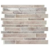 "Smart tiles Adhesive Wall-Tile - 11.5""x9.6"" - Grey and Taupe"