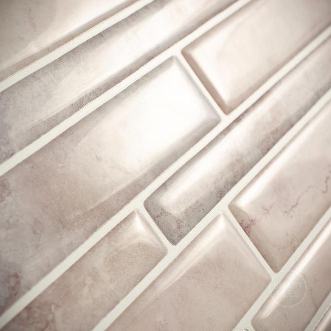 Mosaïque adhésive Smart Tiles, 11,5 po x 9,6 po, gris et taupe, 4 pièces