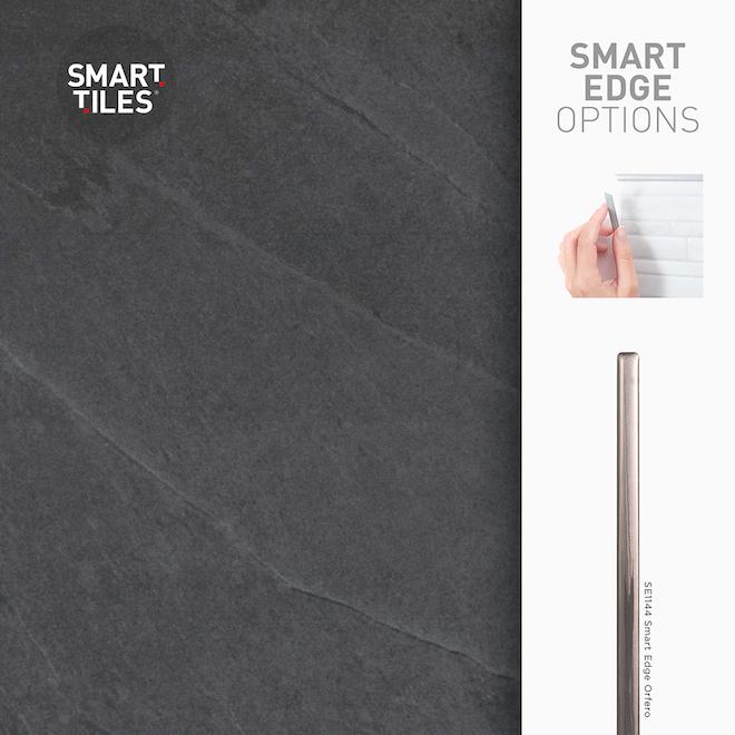 Mosaïque adhésive Smart Tiles, 22,56 po x 11,58 po, gris, emballage de 2