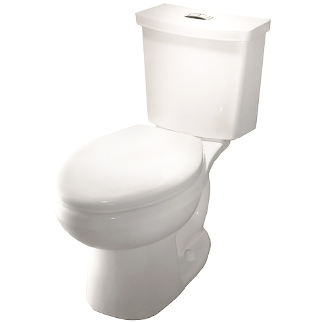 Elongated Front 2-Piece Toilet, 3,8 L/6 L, White
