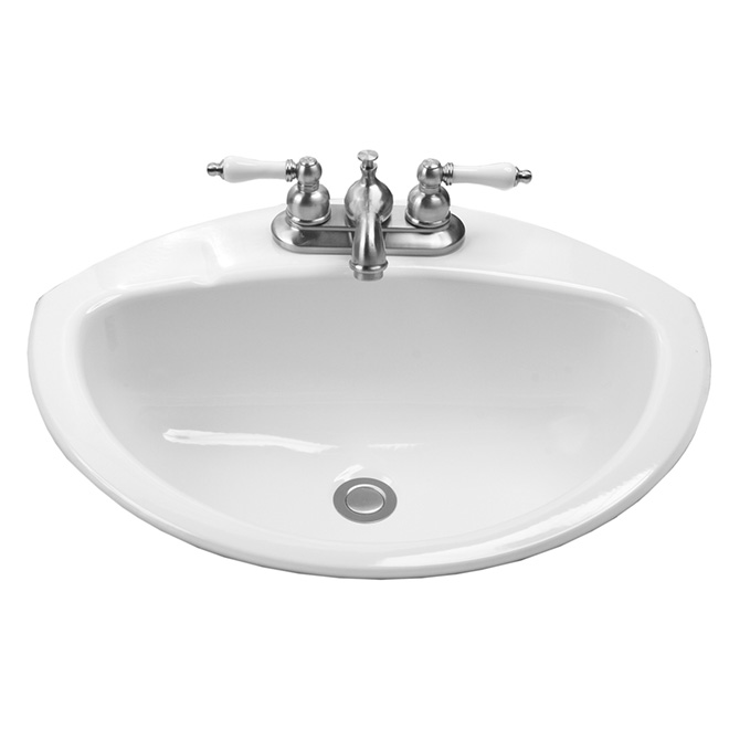 "Drop-in Lavatory - Coronette - 21"" x 17"" - White"