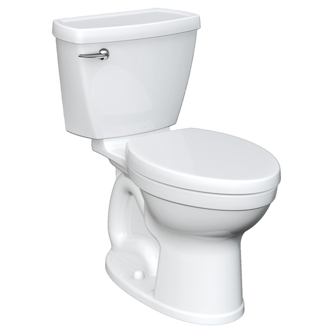 Elongated Front 2-Piece Toilet - Champion - 4.8 L - White