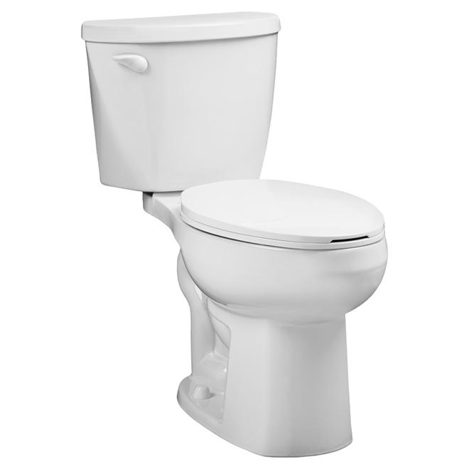 Toilette 2 pièces à cuve allongée, Waterwarden, 4,8 l, blanc