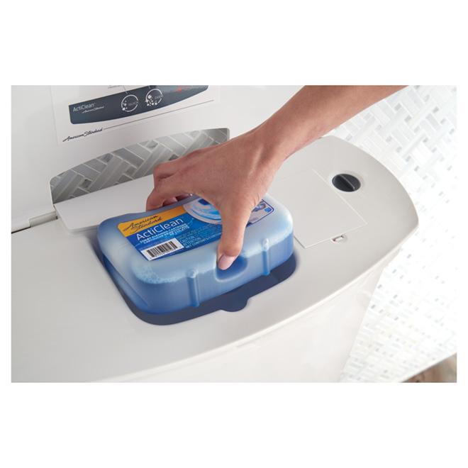 Toilette autonettoyante à cuve allongée, 4,8 l, blanc