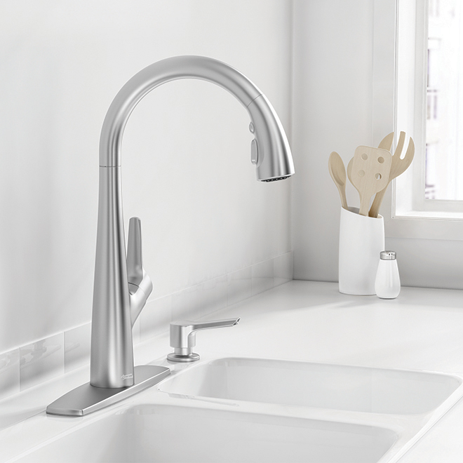 Kerris Pull-Down Kitchen Faucet - Stainless Steel
