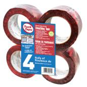 Tuck Tape Cherry Red Sheating Tape Permanent Adhesive - 4 Rolls of 180-ft