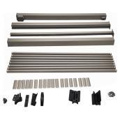 """Ensemble de barrière de 48"""", aluminium, taupe"""