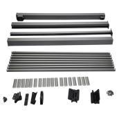 Rampes en aluminium pour barrière, 5'', gris titane