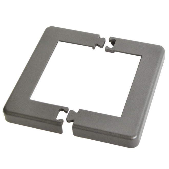 "Base Plate Cover for 4"" Post - 9.53'' x 7.8'' - Aluminum - Titanium Grey"